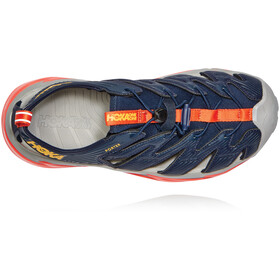 Hoka One One Porter Sandals Men, black iris/mandarin red